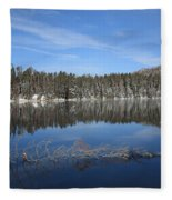 Yellowstone National Park - Mountain Lake Fleece Blanket