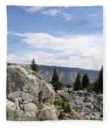 Yellowstone N P Landscape Fleece Blanket