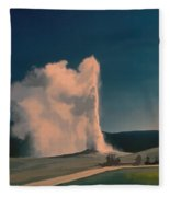 Yellowstone -- Old Faithful Vintage Fleece Blanket