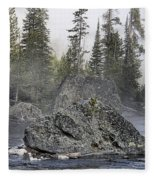 Yellowstone - The Rock Tree Fleece Blanket