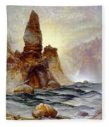 Yellowstone Tower Falls Fleece Blanket