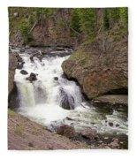 Yellowstone Waterfalls Fleece Blanket
