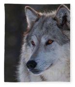 Yellowstone Wolf Fleece Blanket