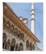 Yeni Cammii Mosque 11 Fleece Blanket