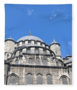 Yeni Cammii Mosque 12 Fleece Blanket