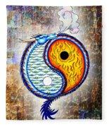 Yin And Yang Textured Fleece Blanket