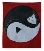 Yin Yang Maternity Fleece Blanket
