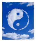 Yin-yang Symbol Made Of Clouds Fleece Blanket