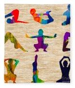 Yoga Poses Fleece Blanket