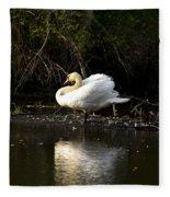 Yogi Swan Fleece Blanket