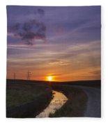 Yorkshire Sunset  Fleece Blanket