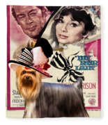 Yorkshire Terrier Art Canvas Print - My Fair Lady Movie Poster Fleece Blanket
