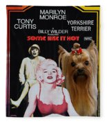 Yorkshire Terrier Art Canvas Print - Some Like It Hot Movie Poster Fleece Blanket