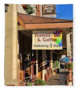 Yosemi Tea Coffee Shop Mariposa California  6935 Fleece Blanket