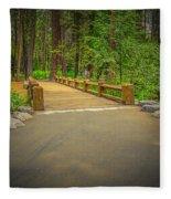 Yosemite Falls Trail Fleece Blanket