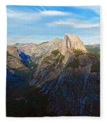 Yosemite Glacier Point Panorama Fleece Blanket