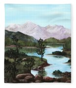 Yosemite Meadow Fleece Blanket