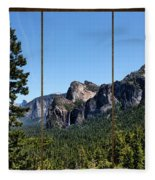 Yosemite Triptych Fleece Blanket