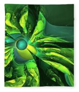 You Are Here --  Events Conspire -- Green Fleece Blanket
