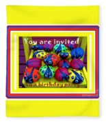 You Are Invited To A Birthday Party Fleece Blanket