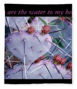 You Are The Water For My Heart 7 Fleece Blanket