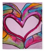 You Hold My Heart In Your Hands Fleece Blanket