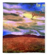 You Own The Skies Fleece Blanket