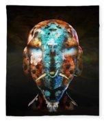 Young Alien Warrior Fleece Blanket