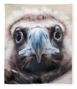 Young Baby Vulture Raptor Bird Fleece Blanket