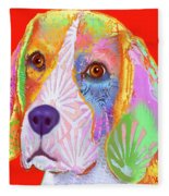 Young Beagle  Fleece Blanket
