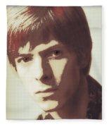 Young Bowie Pop Art Fleece Blanket