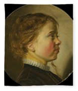 Young Boy In Profile  Fleece Blanket