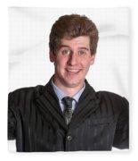 Young Business Man  Fleece Blanket