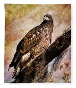 Young Eagle Pose II Fleece Blanket