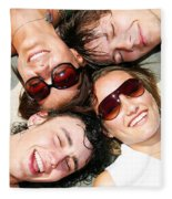 Young Friends Together Fleece Blanket