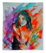 Young Girl 52622 Fleece Blanket