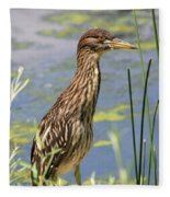 Young Heron Fleece Blanket