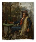 Young Italian Street Musician Fleece Blanket