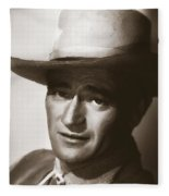 Young John Wayne Painting Traditional Fleece Blanket
