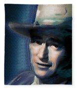Young John Wayne Pop 2 Fleece Blanket