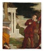 Young Man Between Vice And Virtue Fleece Blanket