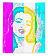 Young Marilyn Soft Pastels Impression Fleece Blanket