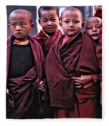 Young Monks II Fleece Blanket