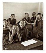 Young Monks Fleece Blanket