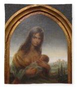 Young Mother Of Urbino Fleece Blanket