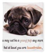 Young Pup Fleece Blanket