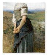 Young Shepherdess Fleece Blanket