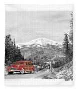 1946 Ford Special Deluxe Woody On Apache Summit Fleece Blanket