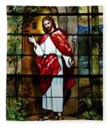 Your Shepherd Is Knocking Fleece Blanket