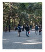 Yoyogi Park Fleece Blanket